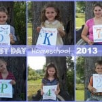 Peek at Our Week: First Day of Homeschool 2013