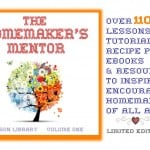 Homemaker's Mentor Volume 1: a Treasure Trove of Homemaking Helps {Review and Giveaway}