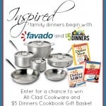 Celebrating Family Dinners with a Cook Book Giveaway