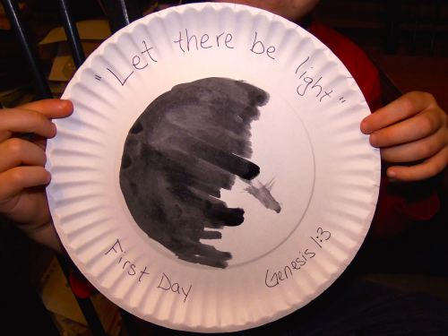 Paper plate first day craft