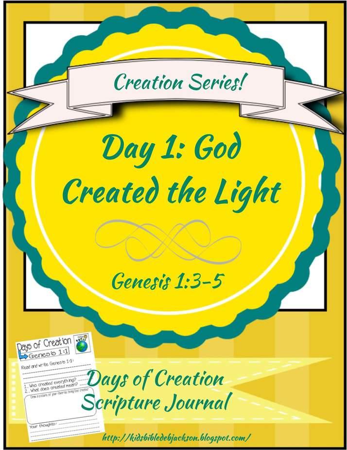 Creation Scripture Journal Day 1