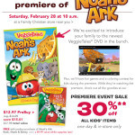 VeggieTales Noah's Ark Premiere Event at Family Christian Stores February 28th
