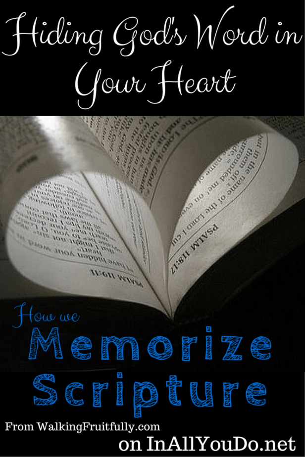 """""""Memorizing Scripture isn't always easy, but it is for our benefit."""" Do you memorize Scripture? Check out these tips to help you get started! Day 11 ~ 30 Days of Bible :: www.inallyoudo.net"""