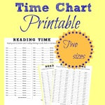 Reading Time Chart Printable