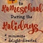 Top Tips to Homeschool During the Holidays