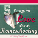 Oh! How I Love Homeschooling, Let Me Count the Ways!