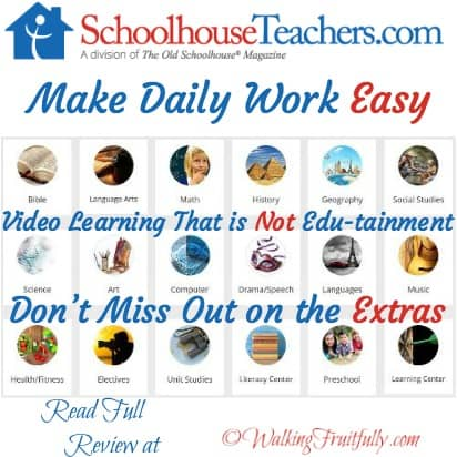 Make Daily Work Easy with SchoolhouseTeachers.com full review at Walking Fruitfully