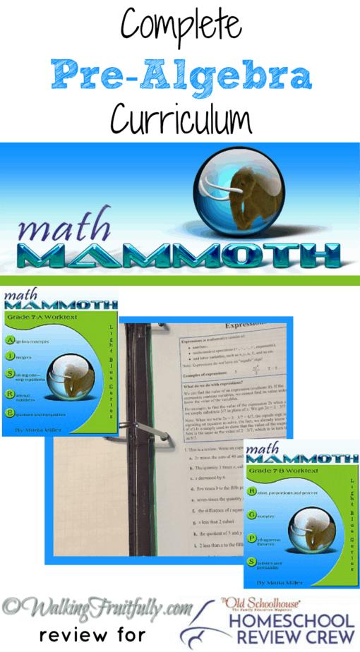 Math Mammoth Complete Pre-Algebra Curriculum ~ Homeschool Crew Review |