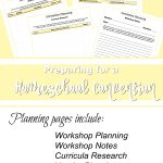 Preparing for a Homeschool Convention – Planner Download