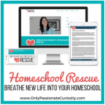 Homeschool Rescue from Only Passionate Curiosity ~ Homeschool Crew Review